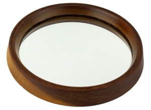 Bevelled Edge Teak Framed Mirror