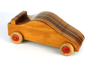 Hand Made Vintage Wooden Toy Car